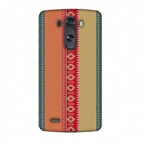 Tribal Patterns And Solids - Teal And Brick Red Slim Hard Shell Case For LG G4