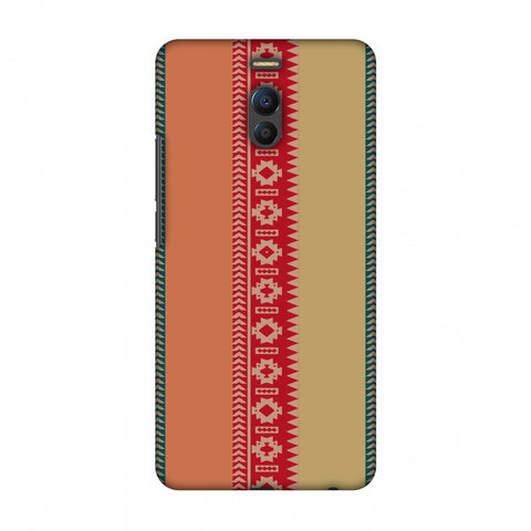 Tribal Patterns And Solids - Teal And Brick Red Slim Hard Shell Case For Meizu Note 6