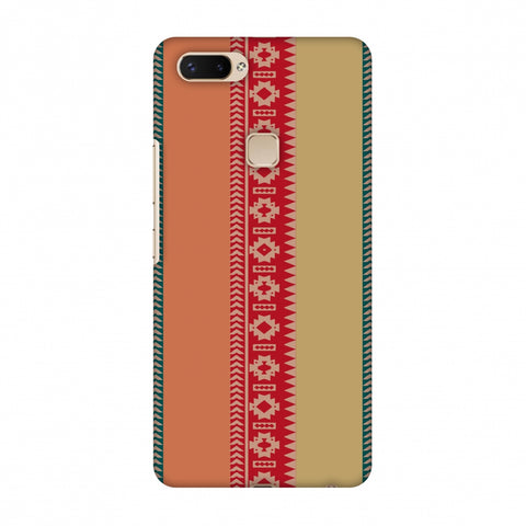 Tribal Patterns And Solids - Teal And Brick Red Slim Hard Shell Case For Vivo X20 Plus