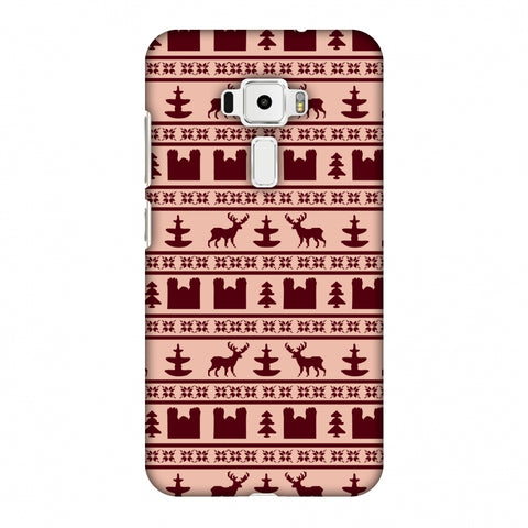 Reindeer Repeats - Bulgarian Rose Slim Hard Shell Case For Asus Zenfone 3 ZE520KL