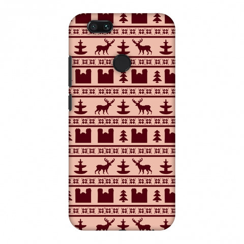 Reindeer Repeats - Bulgarian Rose Slim Hard Shell Case For Xiaomi MI A1-5X