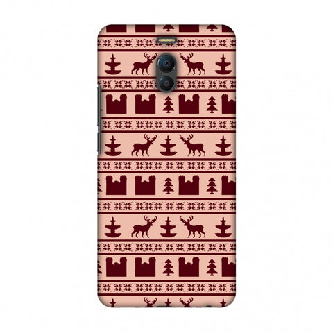 Reindeer Repeats - Bulgarian Rose Slim Hard Shell Case For Meizu Note 6