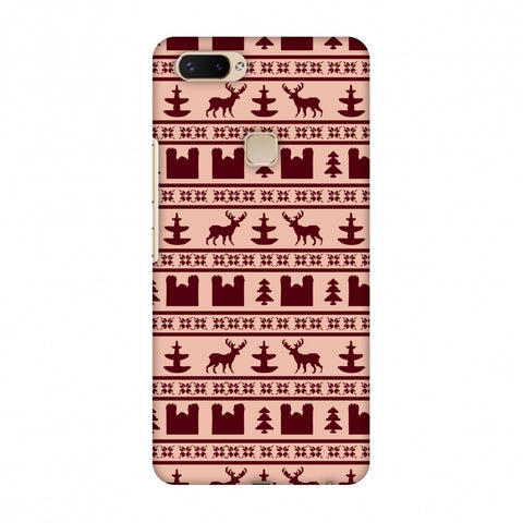 Reindeer Repeats - Bulgarian Rose Slim Hard Shell Case For Vivo X20 Plus