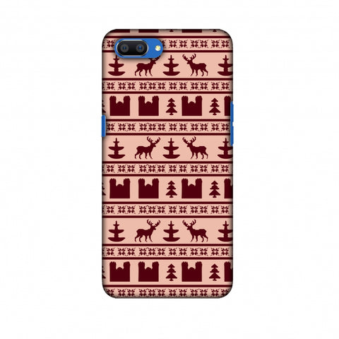 Reindeer Repeats - Bulgarian Rose Slim Hard Shell Case For Oppo Realme C1