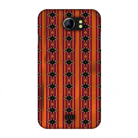 Tribal Repeats - Bright Mustard Slim Hard Shell Case For Micromax Canvas 2 A110