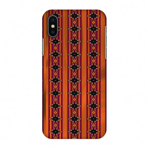 Tribal Repeats - Bright Mustard Slim Hard Shell Case For Apple iPhone X