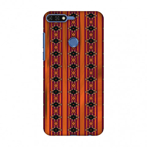 Tribal Repeats - Bright Mustard Slim Hard Shell Case For Huawei Honor 7C