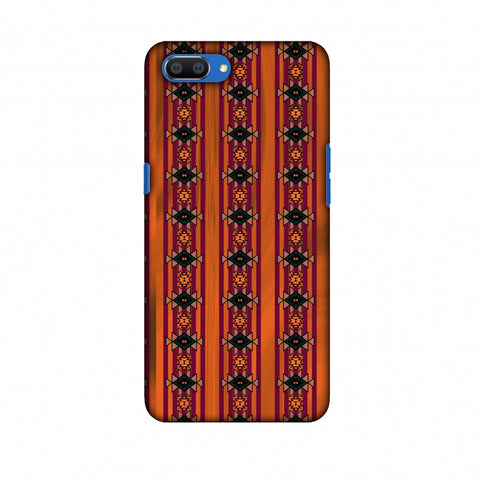 Tribal Repeats - Bright Mustard Slim Hard Shell Case For Oppo Realme C1