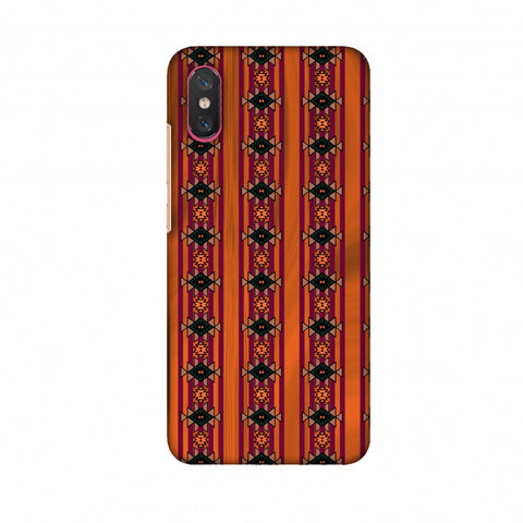 Tribal Repeats - Bright Mustard Slim Hard Shell Case For Xiaomi Mi 8 Pro