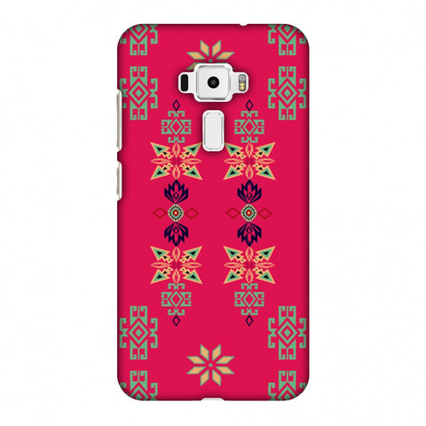 Tribal Motif Placement - Hot Pink And Bright Teal Slim Hard Shell Case For Asus Zenfone 3 ZE520KL