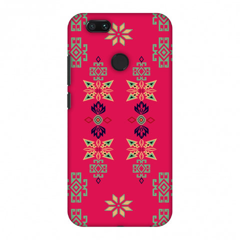 Tribal Motif Placement - Hot Pink And Bright Teal Slim Hard Shell Case For Xiaomi MI A1-5X