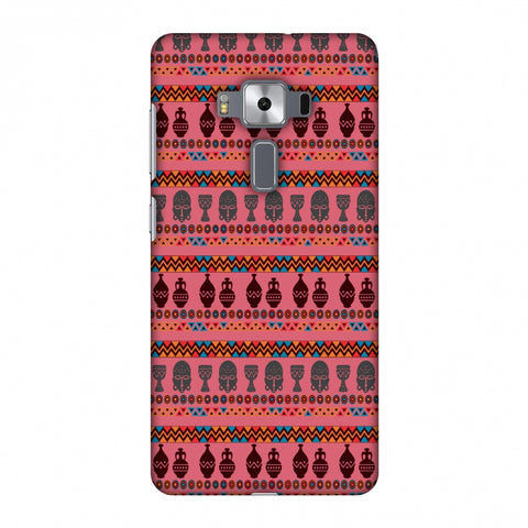 Masks And Pottery - Pink And Grey Slim Hard Shell Case For Asus Zenfone 3 Deluxe ZS570KL