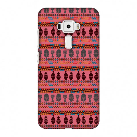 Masks And Pottery - Pink And Grey Slim Hard Shell Case For Asus Zenfone 3 ZE520KL