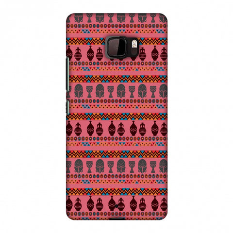 Masks And Pottery - Pink And Grey Slim Hard Shell Case For HTC U Ultra