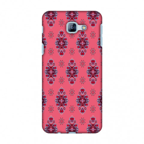 Tribal Florals - Bright Pink Slim Hard Shell Case For Samsung Galaxy A8 2016