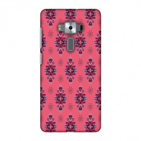 Tribal Florals - Bright Pink Slim Hard Shell Case For Asus Zenfone 3 Deluxe ZS570KL