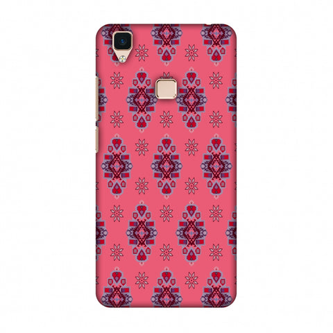 Tribal Florals - Bright Pink Slim Hard Shell Case For Vivo V3