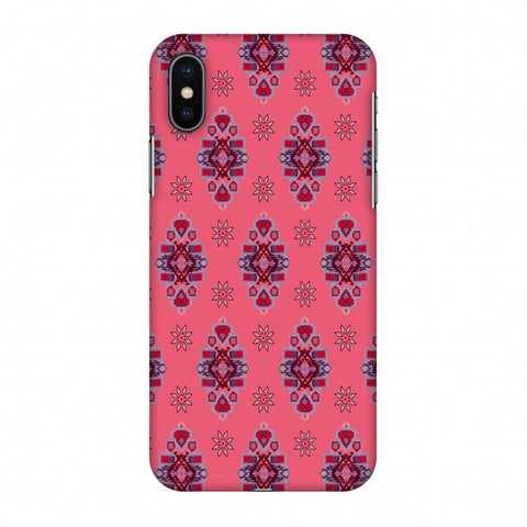 Tribal Florals - Bright Pink Slim Hard Shell Case For Apple iPhone X
