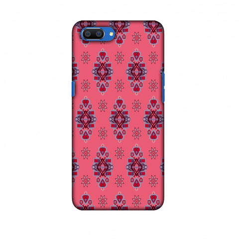 Tribal Florals - Bright Pink Slim Hard Shell Case For Oppo Realme C1