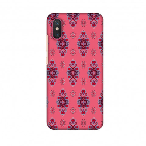 Tribal Florals - Bright Pink Slim Hard Shell Case For Xiaomi Mi 8 Pro