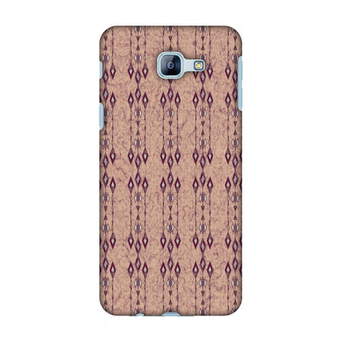 Tribal Diamonds And Marbles - Purple And Beige Slim Hard Shell Case For Samsung Galaxy A8 2016