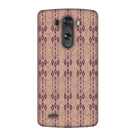 Tribal Diamonds And Marbles - Purple And Beige Slim Hard Shell Case For LG G4