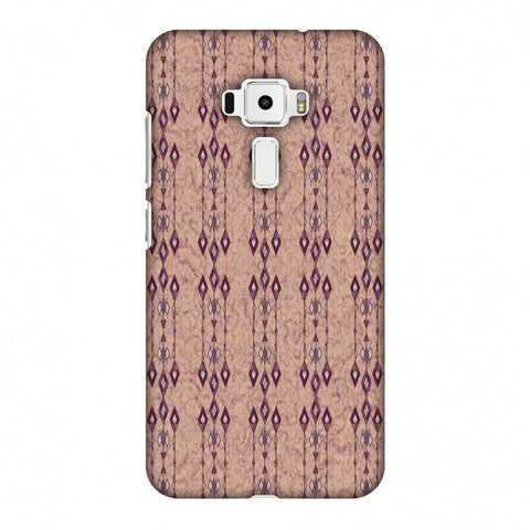 Tribal Diamonds And Marbles - Purple And Beige Slim Hard Shell Case For Asus Zenfone 3 ZE520KL