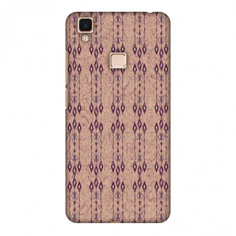Tribal Diamonds And Marbles - Purple And Beige Slim Hard Shell Case For Vivo V3 Max
