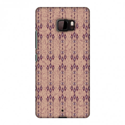 Tribal Diamonds And Marbles - Purple And Beige Slim Hard Shell Case For HTC U Ultra