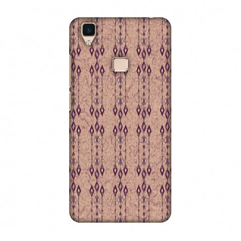 Tribal Diamonds And Marbles - Purple And Beige Slim Hard Shell Case For Vivo V3
