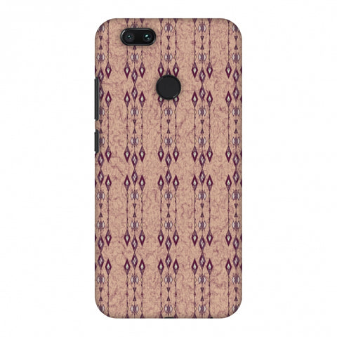 Tribal Diamonds And Marbles - Purple And Beige Slim Hard Shell Case For Xiaomi MI A1-5X