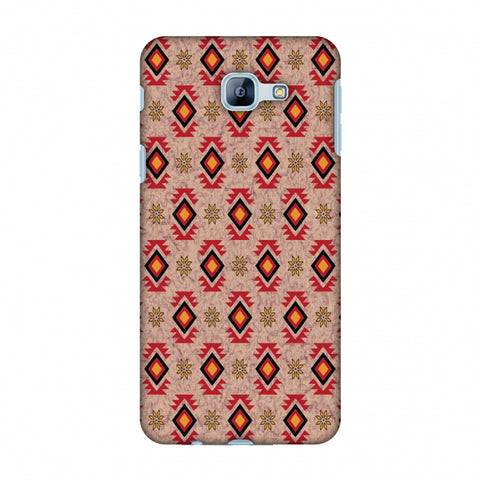 Cool Tribals - Bright Red And Sunflower Yellow Slim Hard Shell Case For Samsung Galaxy A8 2016
