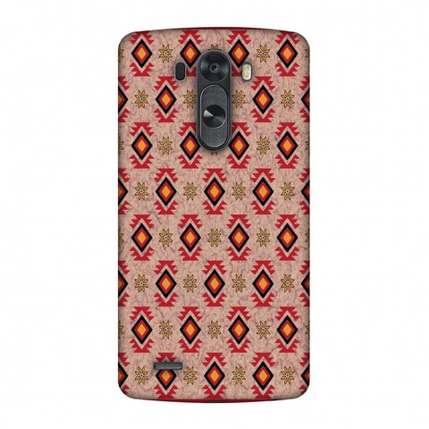 Cool Tribals - Bright Red And Sunflower Yellow Slim Hard Shell Case For LG G4