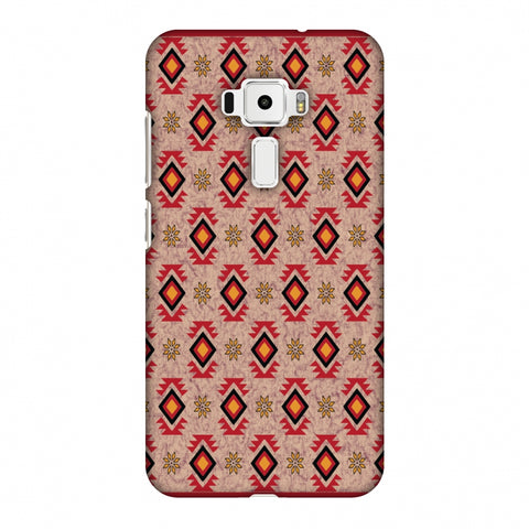 Cool Tribals - Bright Red And Sunflower Yellow Slim Hard Shell Case For Asus Zenfone 3 ZE520KL