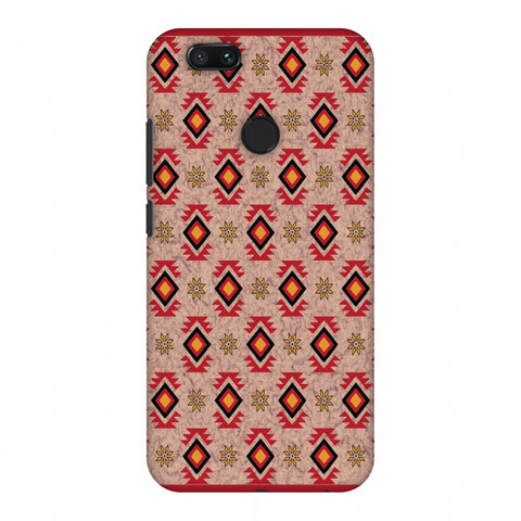 Cool Tribals - Bright Red And Sunflower Yellow Slim Hard Shell Case For Xiaomi MI A1-5X