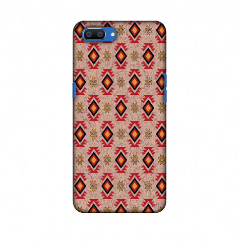 Cool Tribals - Bright Red And Sunflower Yellow Slim Hard Shell Case For Oppo Realme C1