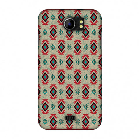 Cool Tribals - Teal And Red Slim Hard Shell Case For Micromax Canvas 2 A110