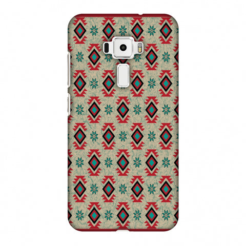 Cool Tribals - Teal And Red Slim Hard Shell Case For Asus Zenfone 3 ZE520KL
