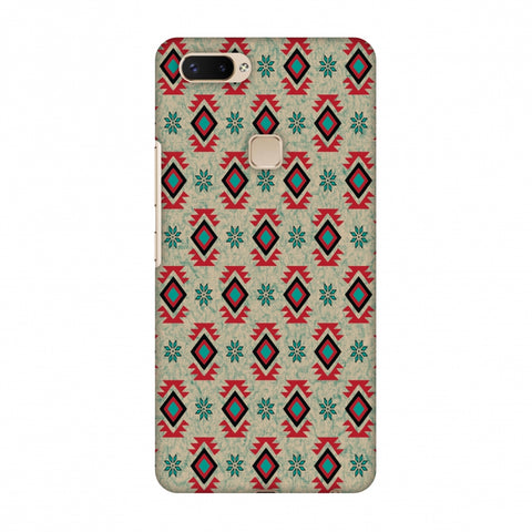 Cool Tribals - Teal And Red Slim Hard Shell Case For Vivo X20 Plus