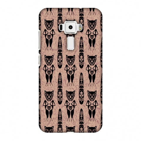 Tribal Murals - Black And Beige Slim Hard Shell Case For Asus Zenfone 3 ZE520KL