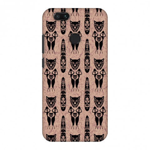 Tribal Murals - Black And Beige Slim Hard Shell Case For Xiaomi MI A1-5X