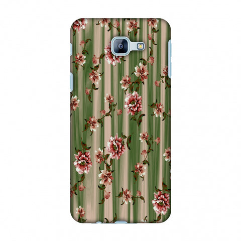 Dahlia With Texture - Olive And Red Slim Hard Shell Case For Samsung Galaxy A8 2016
