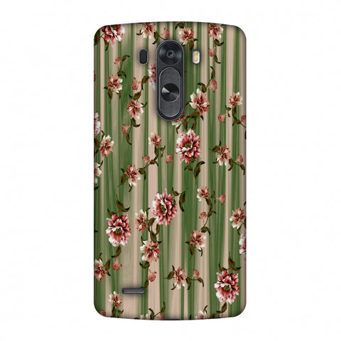 Dahlia With Texture - Olive And Red Slim Hard Shell Case For LG G4