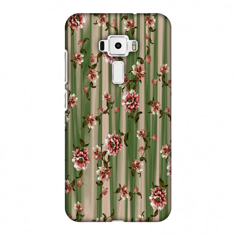 Dahlia With Texture - Olive And Red Slim Hard Shell Case For Asus Zenfone 3 ZE520KL