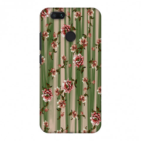 Dahlia With Texture - Olive And Red Slim Hard Shell Case For Xiaomi MI A1-5X