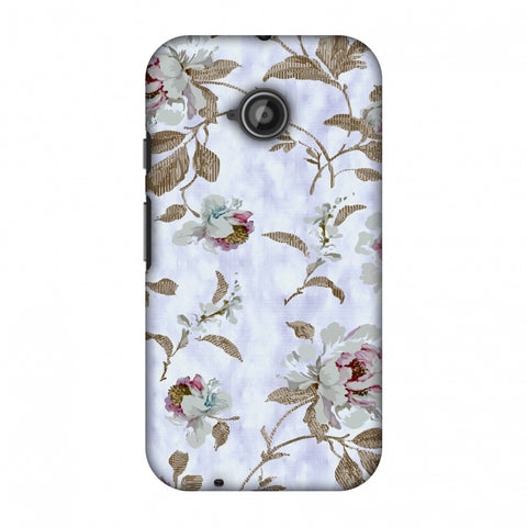 TextuRed Roses - Lavender And Pearl White Slim Hard Shell Case For Motorola Moto E 2nd Gen