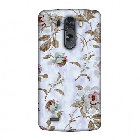 TextuRed Roses - Lavender And Pearl White Slim Hard Shell Case For LG G4