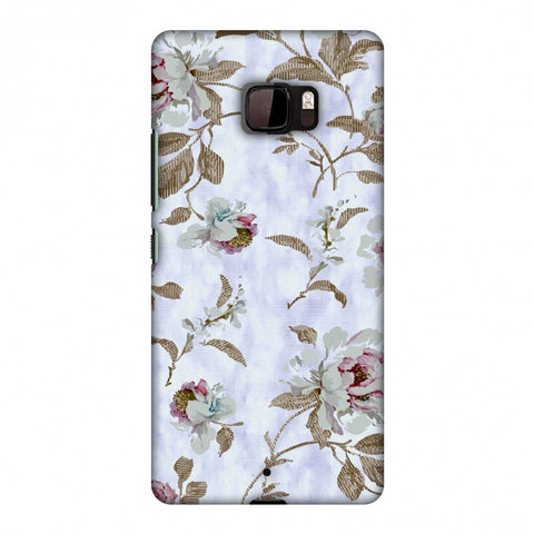 TextuRed Roses - Lavender And Pearl White Slim Hard Shell Case For HTC U Ultra