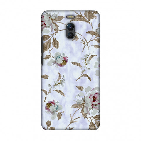 TextuRed Roses - Lavender And Pearl White Slim Hard Shell Case For Meizu Note 6