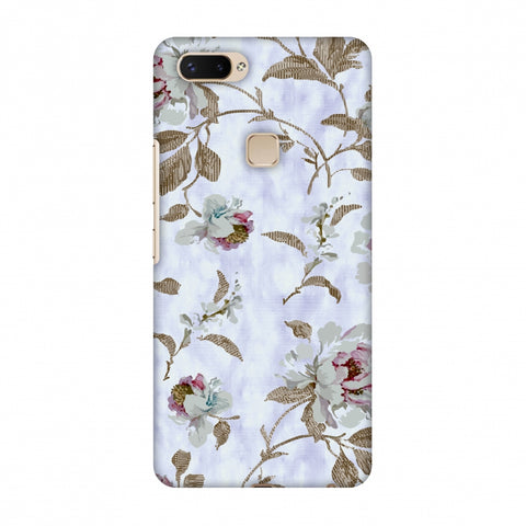 TextuRed Roses - Lavender And Pearl White Slim Hard Shell Case For Vivo X20 Plus
